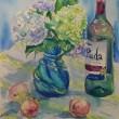 水彩画 紫陽花