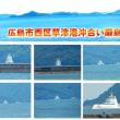 見て見てあれは何だ?広島市西区草津港厳島方向、廿日市港沖浮上停泊している奇怪な艦艇?