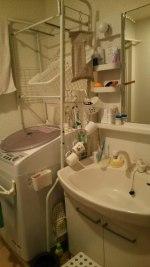 洗濯機のお風呂ホース入れ&吊るす収納