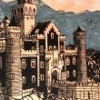 「ノイバンシュタイン城」  58x42㎝