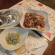 真鯛ホイル焼き&牛煮&キュウリ酢の物
