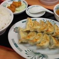 熱烈中華食堂 日高屋 京成大久保 ダブル餃子定食と焼き鳥丼