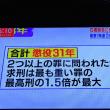 12/11 日本は懲役の上限があるようだ