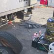 自社トラックのスタッドレスタイヤ交換
