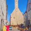 2018.05.24 エストニア、タリン、旧市庁舎: 削ぎ落したような旧市庁舎東側面