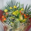 御祝花束をお作り致しました。(お誕生日のプレゼント用)