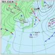 4月19日 アメダスと天気図。