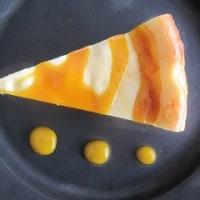 オレンジとマンゴーのチーズケーキ