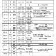 3月の練習予定表