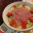 マグロサラダ&竹輪とキュウリのタラマヨ和え&豚玉お好み焼き