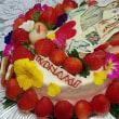 ★息子さんの結婚祝いに両親が贈ったケーキ☆