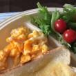 9/22(金)朝食(食パン、サラダ、玉子、コーヒー)。Camera(iPhone 6 Plus)。