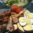 鶏肉と豚肉のお酢煮