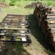 薪台に防腐剤