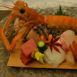 先月の旅・松濤館の夕食は手長海老を