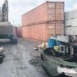 今日は3800kgの鉄の箱を二段に積んでつんだまんまで7600kg運んでみた 危険や子どもはマネしたらあかん