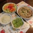 サーモンサラダ&豚肉の柳川鍋
