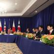 <第72回 国連総会>日米韓首脳会談