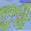 11月22日 アメダスと天気図。