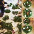 フレッシュグリーンで作るクリスマスクランツ