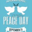 「国際平和デー」!!「世界の停戦と非暴力の日」!!