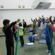 チューブによる筋力トレーニング