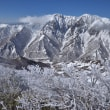 白毛門山から谷川岳は美しく