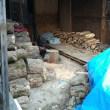 薪小屋整理と倒木伐採