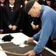 天竜高校・生活産業基礎の授業に参加   綿から織物まで