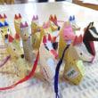 裏磐梯の伝統木地玩具「守り狐」を茨城県の中学生に作ってもらいました!