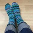 靴下編みました