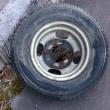 アクアLは摩耗した夏タイヤに交換しました。