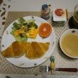 マヨ玉クロワッサンド、コメダの小倉あんで朝ご飯