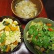 豆腐そぼろサラダ