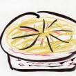砂肝のコンフィ & キノコラザニア