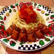 ウィンナちゃんのトマトの冷製パスタ