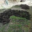 家庭菜園の畑を耕やした後と、前の違い