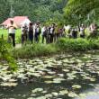 金華山とモネの池