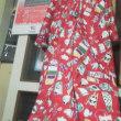 風呂敷(改装セール品)、フリースひざ掛け(100均)で、お正月&クリスマス用衣装製作中!!、