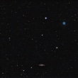 惑星状星雲M97とM108銀河