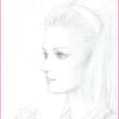 美人画習作「白い薔薇を抱いて」