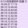 🚴 9/15 共同通信杯 (武雄) ①