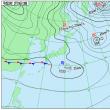 2月19日 アメダスと天気図。