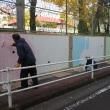壁画の下地作り