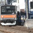 武蔵野線の205系 西国分寺駅にて