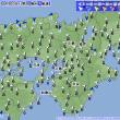 4月20日 アメダスと天気図。