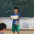 授業参観。西表島の小学校。
