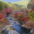 稲武の大井平公園付近を流れる 名倉川の絶景