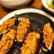 夜ご飯は、鶏とアボガドの味噌漬け串とまるごと麻婆茄子