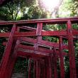 2018 祐徳稲荷神社の朱塗りの舞台が青空に映える 2 《佐賀県鹿島市》